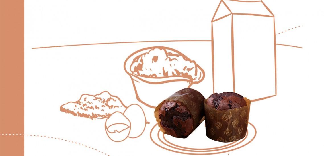 پودر مافین شکلاتی